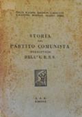 STORIA DEL PARTITO COMUNISTA (bolscevico) DELL'U.R.S.S.