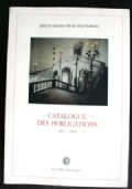 Catalogue des publications 1977 - 1995