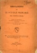 REGOLAMENTO PER LE SCUOLE PRIMARIE DEL COMUNE DI ROMA