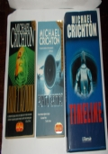 LOTTO 3 LIBRI MICHAEL CRICHTON
