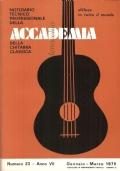 Notiziario Tecnico Professionale Accademia Chitarra Classica n. 23 - 1976