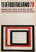 Teatro italiano '79 Annuario I.D.I. - S.I.A.E