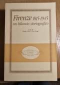 Firenze 1815-1945 Un bilancio storiografico