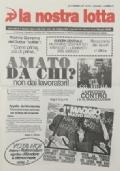LA NOSTRA LOTTA Anno XX n. 6 - Settembre 1998