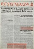 RESISTENZA Foglio mensile dei CARC - Anno 3 20/2/96 numero straordinario