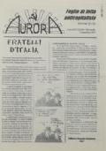 AURORA Fogli di lotta anticapitalista - Primavera '98