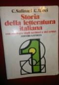 STORIA DELLA LETTERATURA ITALIANA con antologia degli scrittori e dei critici - VOLUME 1