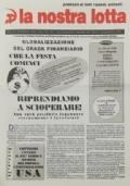 LA NOSTRA LOTTA Anno XXI n. 5 - Maro 1998