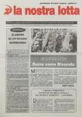 LA NOSTRA LOTTA Anno XX n. 8 - Dicembre 1998