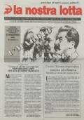 LA NOSTRA LOTTA Anno XX n. 7 - Ottobre 1998