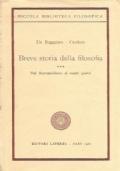 BREVE STORIA DELLA FILOSOFIA vol. III: Dal Romanticismo ai nostri giorni