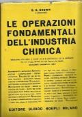 Le operazioni fondamentali dell'industria chimica