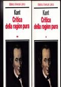 CRITICA DELLA RAGION PURA 2 VOLUMI OPERA COMPLETA