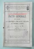 Patto Generale per la conduzione dei fondi rustici a mezzadria nella provincia di Padova 1930