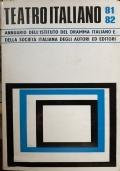 Teatro italiano '80 - '82 Annuario I.D.I. - S.I.A.E