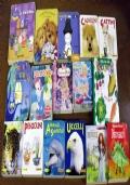 Lotto 16 libri cubotti bambini illustrati animali cani gatti Barbie Peppa Pig CAD032