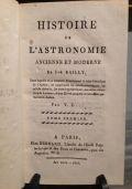 Histoire de l'Astronomie Ancienne et Moderne