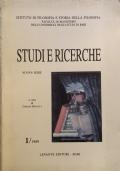 Studi e ricerche Nuova serie 1/1989
