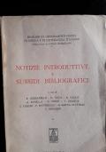 notizie introduttive e sussidi bibliografici