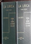 STORIA DEI GENERI LETTERARI ITALIANI. LA LIRICA.  2 Volumi
