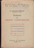 Sinossi di Diritto Costituzionale, (L'Organizzazione dello Stato – La Costituzione – La Corte Costituzionale – La Regione)