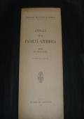 annali della facoltà giuridica  vol. XXV  anno 1959