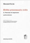 Diritto processuale civile 2 Processo di cognizione quinta edizione