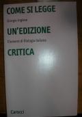 Come si legge un'edizione critica elementi di filologia italiana
