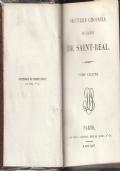 OUVRES CHOISIES DE L'ABBE DE SAINT-REAL - Libro del 1826