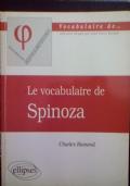Le vocabulaire de Spinoza