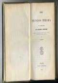 LE RIME DI PETRARCA CON L' INTERPRETAZIONE DI GIACOMO LEOPARDI - LE MONNIER 1851