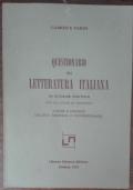 Questionario di letteratura italiana(AUTOGRAFATO DALL'AUTORE)