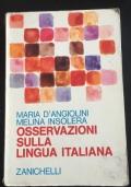 Osservazioni sulla lingua Italiana
