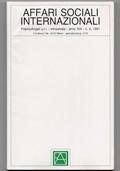 Affari sociali internazionali (1991, Anno XIX - n° 4)