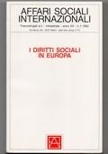 Affari sociali internazionali (1992, Anno XX - n° 1) - I diritti sociali in Europa (Numero monografico)