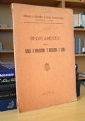 REGOLAMENTO DELLA SCUOLA D'APPLICAZIONE D'ARTIGLIERIA E GENIO TORINO (1930)