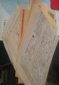 Stock di 70 documenti + marche da bollo firme e timbri della prima metà del '900