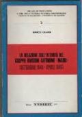 La relazione sull'attività del gruppo divisioni autonome Mauri: settembre 1943-aprile 1945