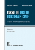 Corso di diritto processuale civile - editio minor - Vol I