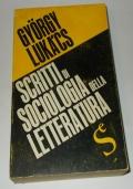 SCRITTI DI SOCIOLOGIA DELLA LETTERATURA