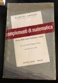 Complementi di matematica per gli Istituti Tecnici,Industriali e Nautici