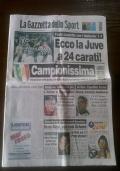 Gazzetta dello Sport 24 maggio 1997 - 24/05/1997 - SCUDETTO JUVENTUS n. 24 ( Sport Calcio Del Piero )