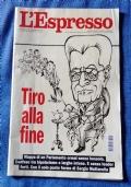 Rivista L'ESPRESSO n.25 ANNO LXIII 18 giugno 2017 - TIRO ALLA FINE ( Cultura Politica Economia Attualità Mattarella Salvini )