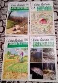Lotto 4 Riviste Guide Illustrate - Pesci d'acqua Dolce - L'ospitalità ai nostri piccoli animali selvatici - Riconoscimento delle tracce - Coltivazione del bosco ( Vita in Campagna Natura )