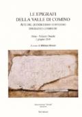 Le epigrafi della Valle di Comino.Atti del Quindicesimo Convegno epigrafico cominese (Atina, Palazzo Ducale 2 Giugno 2018)