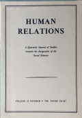 Human relations Studies towards the integration of the Social Sciences Volume 19 Number 4 November 1966