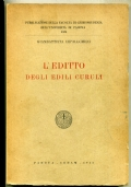 PROCCHI - LICET EMPTIO NON TENEAT - ORIGINI SULLA CULPA IN CONTRAHENDO - CEDAM