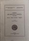 Indici dell'Archivio Veneto 1931-1990 Autori Opere censite Soggetti