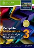 Complete Mathematics for Cambridge Secondary 1, 3