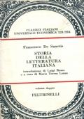 STORIA DELLA LETTERATURA ITALIANA - VOLUME DOPPIO